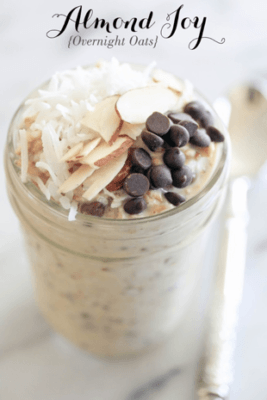 Oatmeal Recipes: Almond Joy Overnight Oats