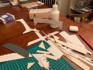 modelling in card covered bridge