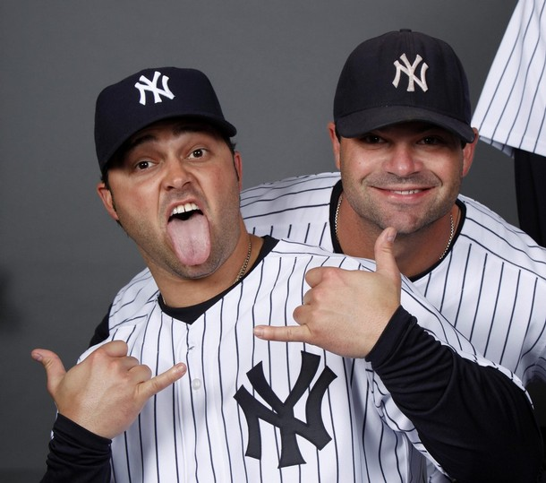 Nick Swisher and Brian Bruney