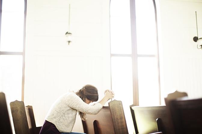 Horizons Stewardship Church Financial Campaigns - woman in prayer 2