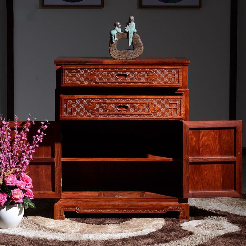 緬甸花梨木五斗柜中式紅木臥室家具實木儲物柜古典收納柜 - 東陽市傳祥紅木家具有限公司