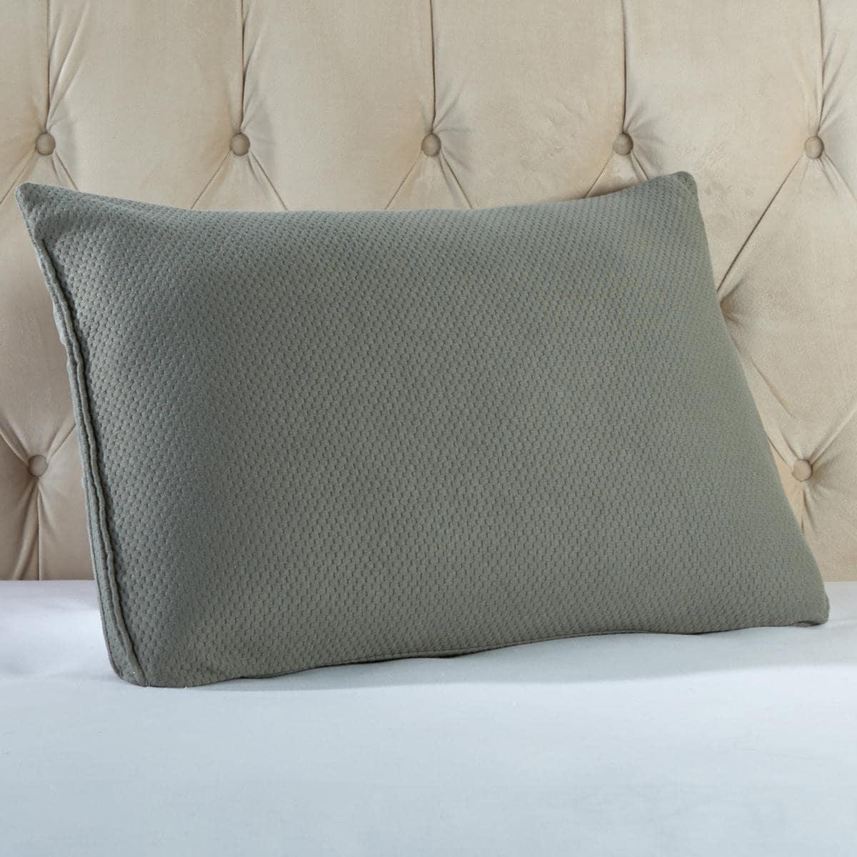 Joy Mangano MemoryCloud Warm & Cool Jumbo Pillow Silver