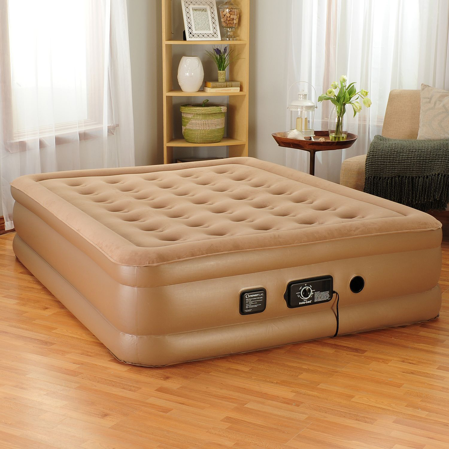 InstaBed 18 Raised Air Bed w Never Flat Pump Queen NEW  eBay