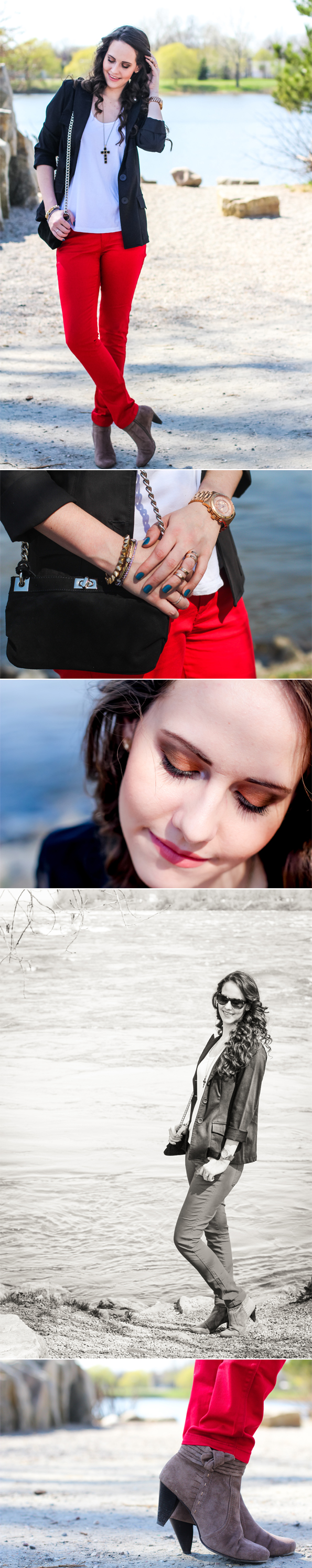 Look do Dia - OOTD -  Vermelho e Preto - Sue Brandao