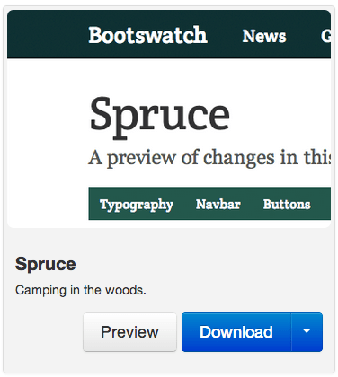 Bootstrap theme Spruce from Bootswatch