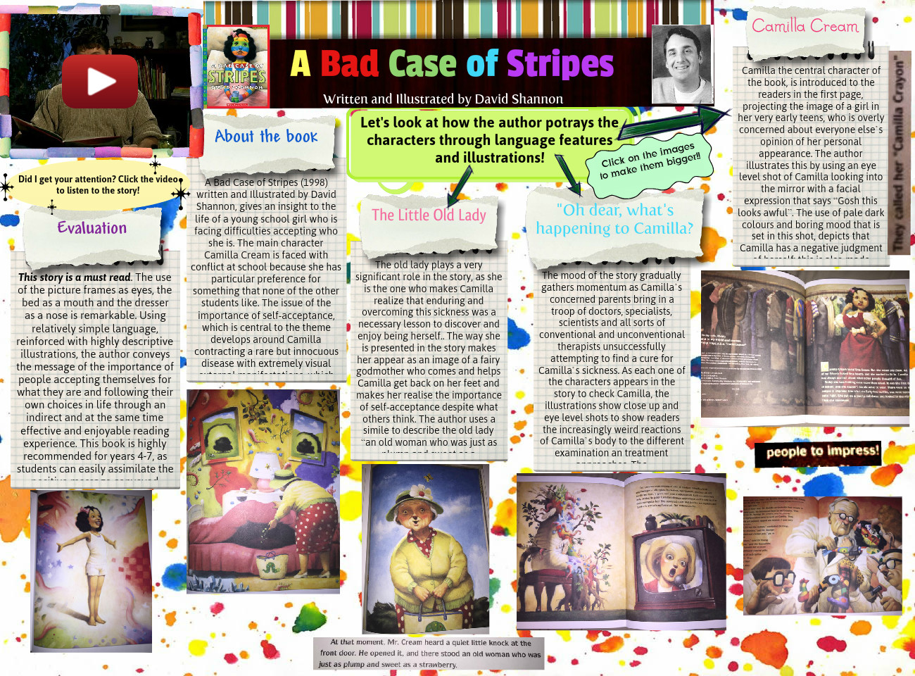 A Bad Case Of Stripes Arts Bad Case Book Reports