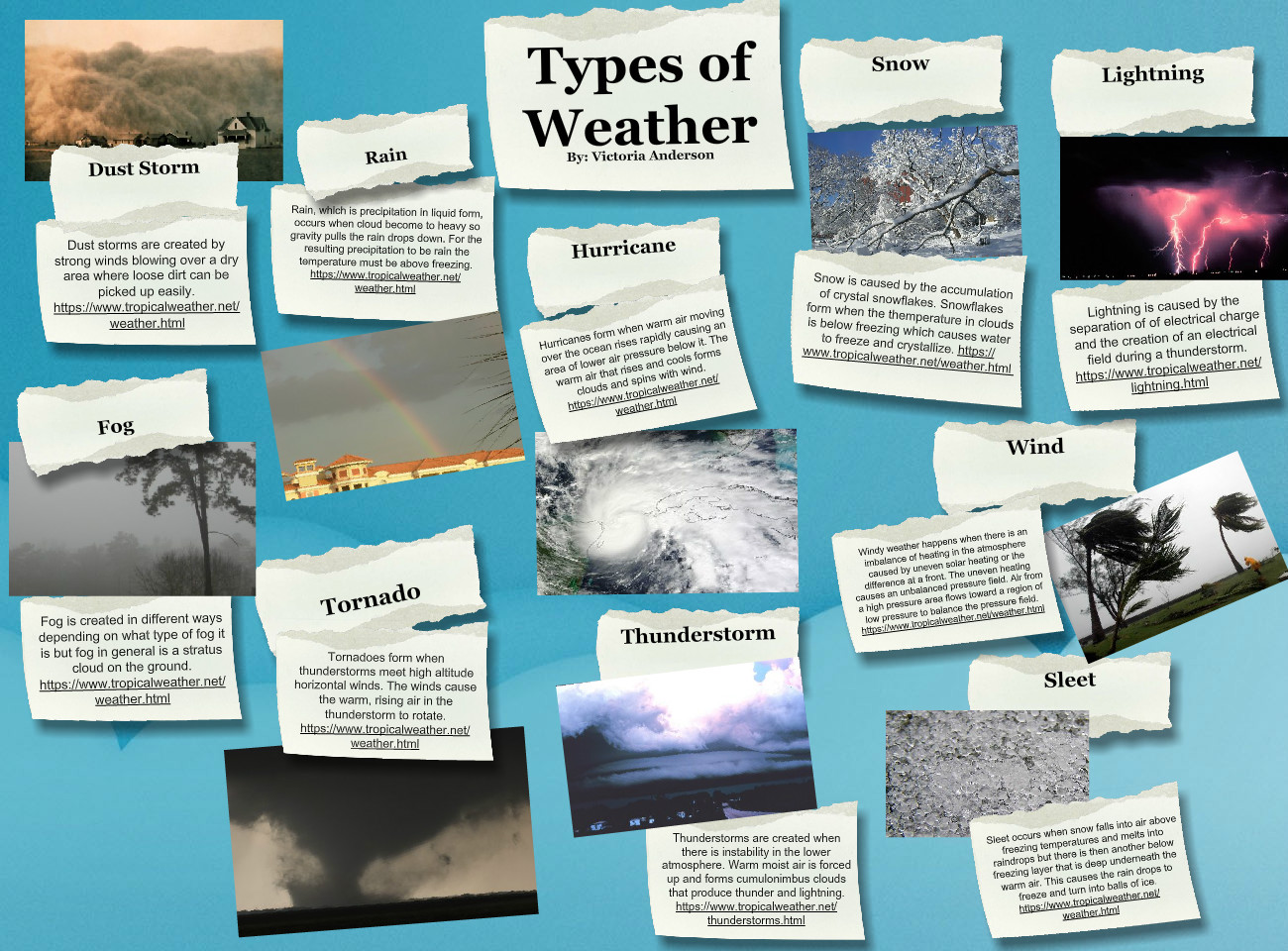 Types Of Weather Climate Clouds Dust En Fog