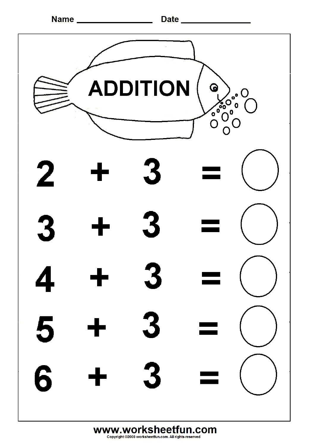 Beginner Addition 6 Kindergarten Addition Worksheets Free Printable Worksheets Worksheetfun