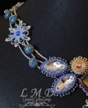 N-15022 seedbead flower crystal necklace 6