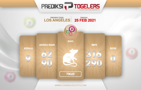 LOS ANGELES Togelers Forecast 25 Februari 2021 Kamis
