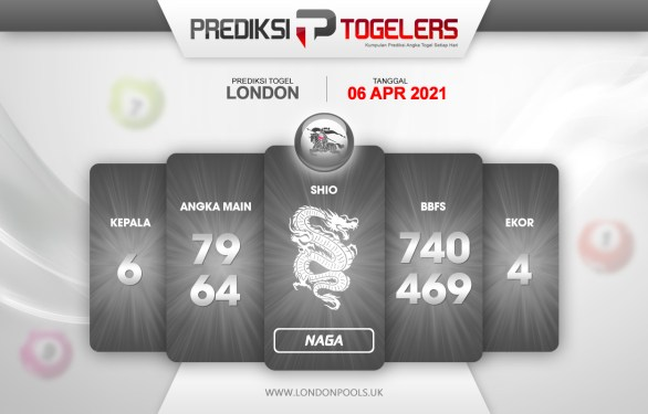 Perkiraan Togelers LONDON Selasa 6 April 2021