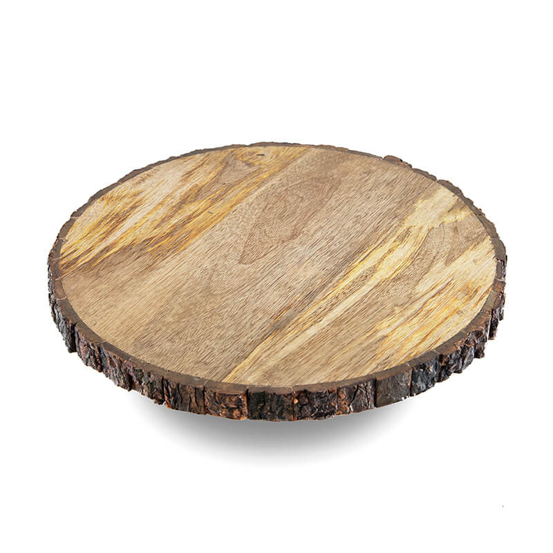 12 inch round wooden slab cake and