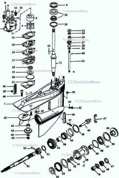 OMC parts *800 Cobra outdrive *Exploded view drawings *Videos