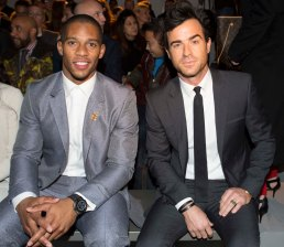 Justin Theroux and Victor Cruz - Calvin Klein Collection, fall 2013