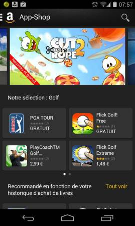 Amazon App Store (alternative à Google Play)