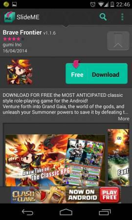 SlideME Market (alternative à Google Play)