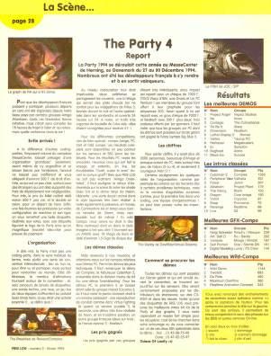 Reportage sur The Party 4 dans Free Log numéro 2 (février 1995)