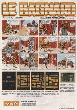 Flyer de promotion pour Le Bagnard. BD de Jean-Jacques Bravard. Source http://flyers.arcade-museum.com/