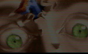 """Avant la démocratisation des modes true-color (plus de 256 couleurs) sur PC, certaines productions les simulaient en alternant les pixels rouges, verts et bleus sur un mode graphique SVGA 8 bit, recréant en quelques sorte les LEDs de l'écran ! En théorie, cela permettait d'obtenir 262 144 couleurs (64×64×64), soit beaucoup plus que le nombre de """"pixels"""" affichés ! Arabicum par Massive (MS-DOS, 1995) https://demozoo.org/productions/27495/"""