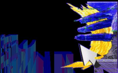 """Magical Wonder Band était un groupe français qui avait opté pour des visuels d'inspiration purement """"numérique"""" au lieu de faire référence à la réalité. Le résultat est différent sans être réellement convaincant, surtout en basse résolution. Escape par Magical Wonder Band (MS-DOS, 1995) https://demozoo.org/productions/28991/"""