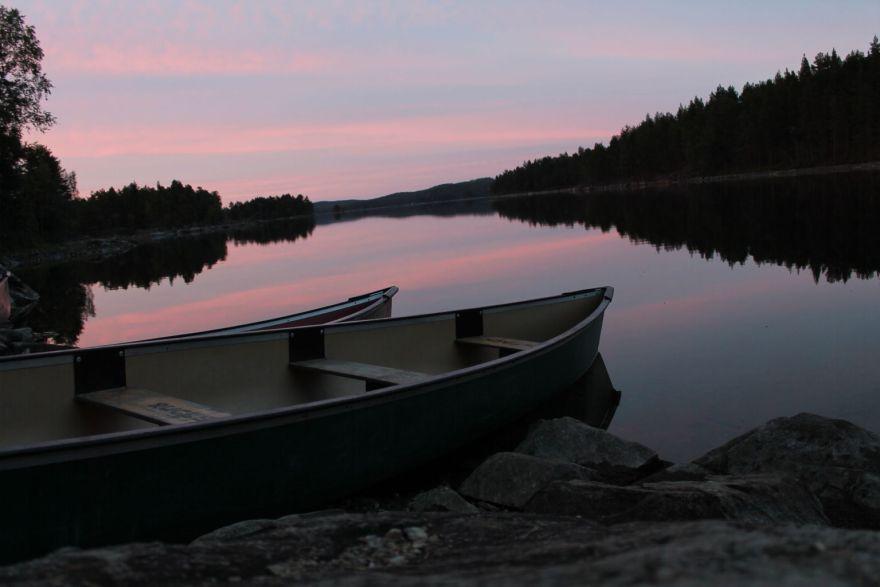Schweden_2015_Kanus abends