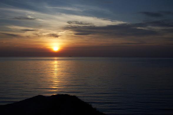 Sonnenuntergang Hohes Ufer