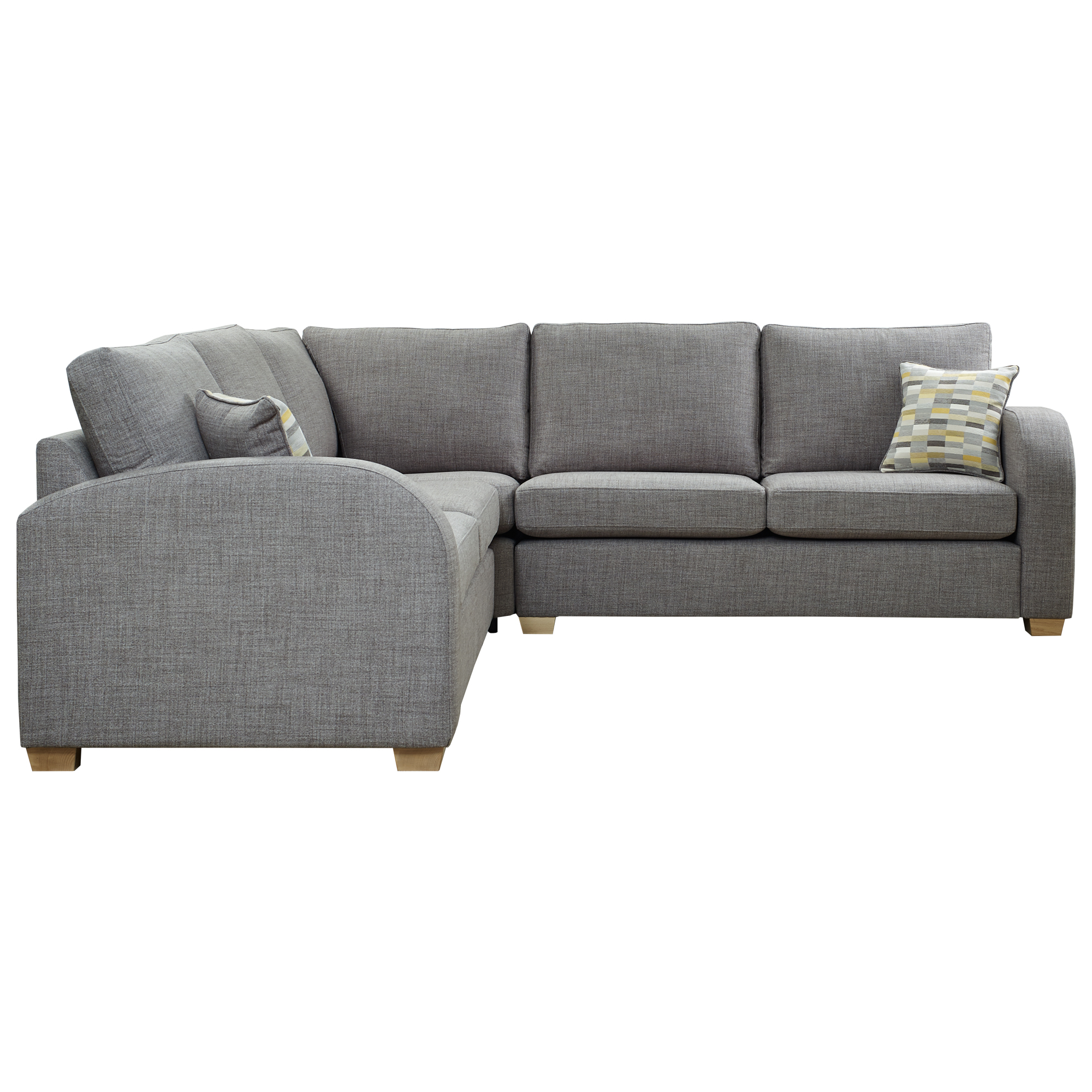 corner sofa bed new york upholstery cost sydney front with 2 scatters