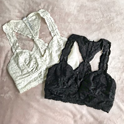 Free People Lace Racerback Bralettes