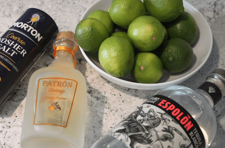 photo of ingredients for a margarita