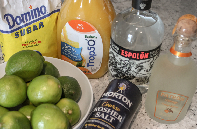 photos of ingredients for a margarita