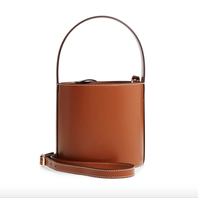 photo of Staud Bissett leather bucket bag
