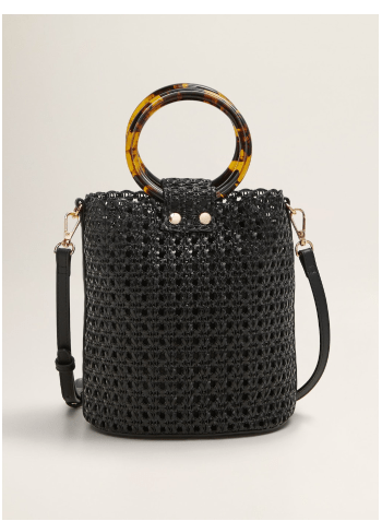 photo of Mango laser-cut bucket bag