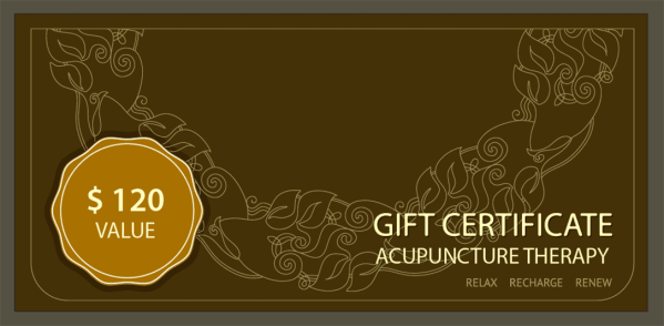 Gift Certificate for Acupuncture Therapy