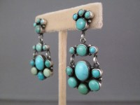 Carico Lake Turquoise Earrings - Native American Turquoise ...