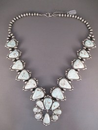 Dry Creek Turquoise Squash Blossom Necklace & Earring Set