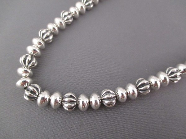 Sterling Silver Bead Necklace Native American Jewelry