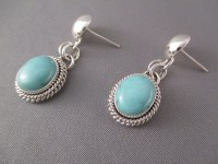Turquoise Earrings by Artie Yellowhorse - Navajo Jewelry