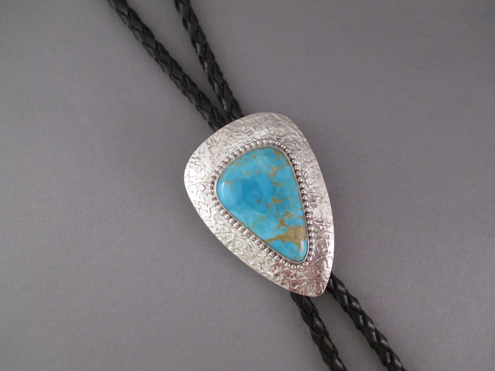 Sterling Silver Bolo Tie with Turquoise