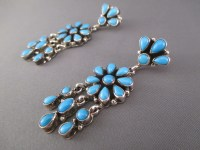 Long Sleeping Beauty Turquoise Earrings - Native American ...
