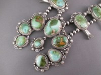 Squash Blossom Necklace with Royston Turquoise - Turquoise ...