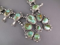 Squash Blossom Necklace with Royston Turquoise