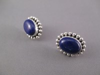 Artie Yellowhorse Lapis & Sterling Silver Earrings ...