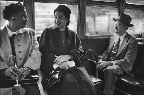 "Back on the BusLife photographer Don Cravens documented Rosa Parks' first ride on the integrated bus system. Of the strike, King wrote, ""We came to see that, in the long run, it is more honorable to walk in dignity than ride in humiliation."" Time"