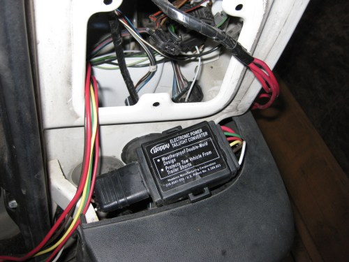 small resolution of using just the wiring from the 2 hopkins kits i had i mounted the power converter outside of the taillight in later pictures you can see that i tie