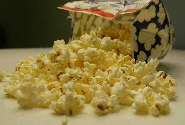 nutella microwave popcorn hotdogs and