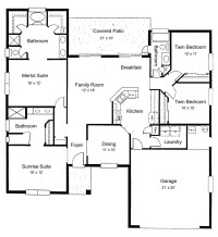 Sunset View - Accommodation - Floor Plan