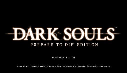 Dark Souls title screen