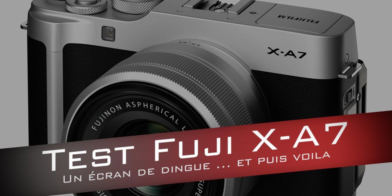 test fujifilm x a7 un hybride qui