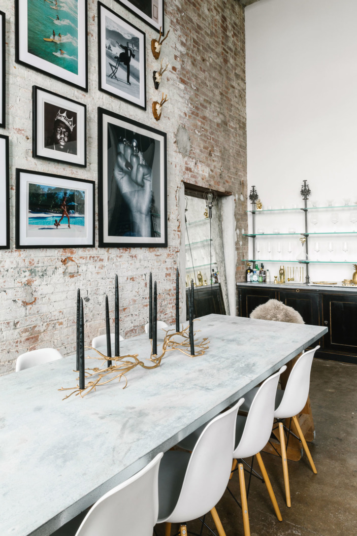 Loft moderno e industrial en Brooklyn