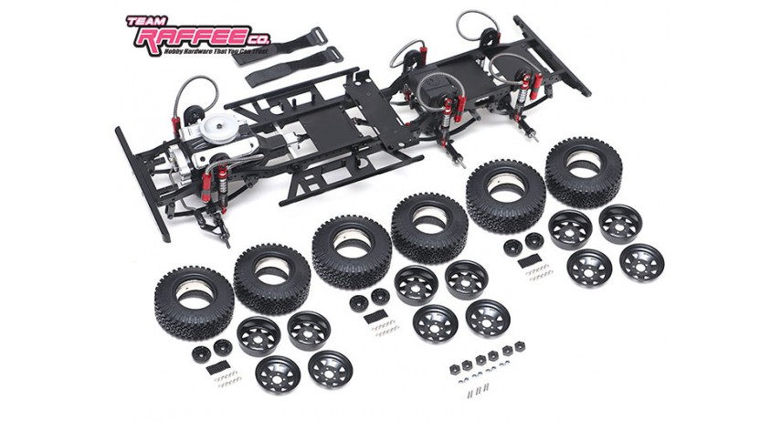 Team Raffee Co. 1/10 Defender D130 6x6 Chassis Kit
